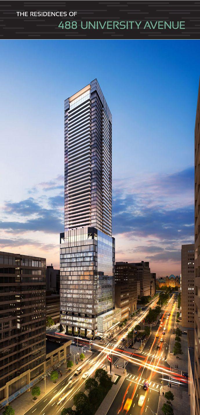 The Residences at 488 University Avenue #Toronto condo landmark #tower.