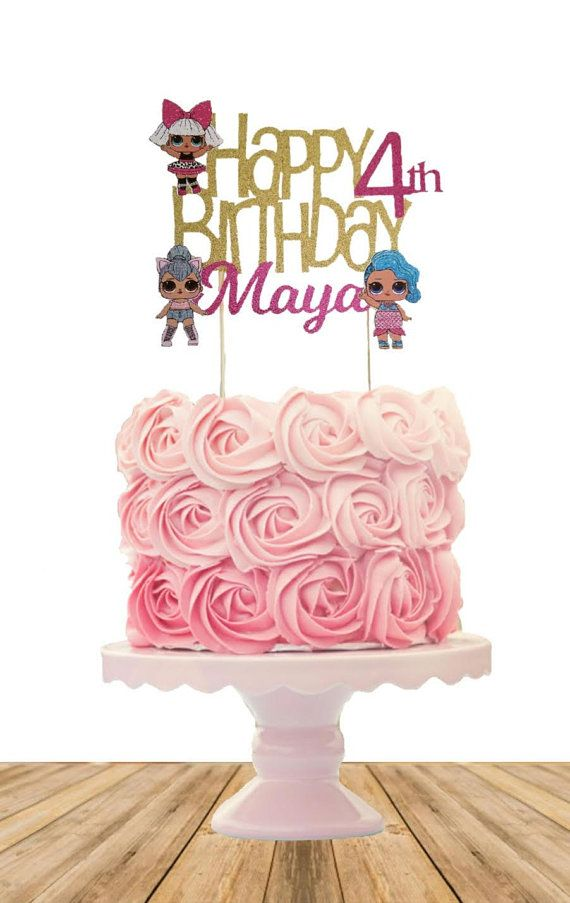 Surprise Doll Inspired Cake Topper Personalized With Name