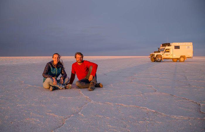 Latitude 70  Overlander journey through the world in a massive 4x4. A great roadtrip to discover both yourself and incredible salty lakes.