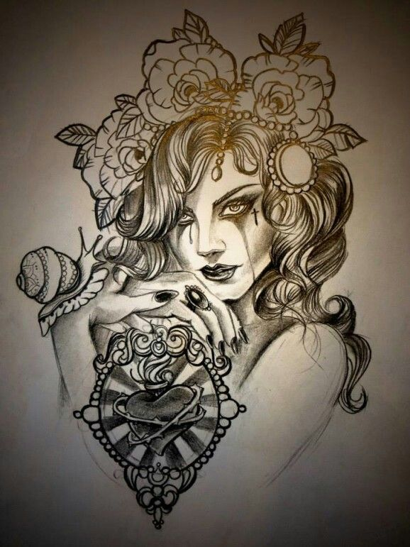 6977 best tattoo illustration inspiration images on pinterest drawings tattoo ideas and. Black Bedroom Furniture Sets. Home Design Ideas