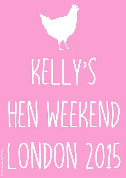 Light Pink Hen Party Add Your Own Message Personalised Poster A3