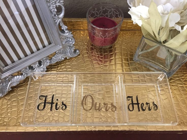 His And Her Gifts For Wedding: Clear His And Hers Tray, New Home Gift, Wedding Gift