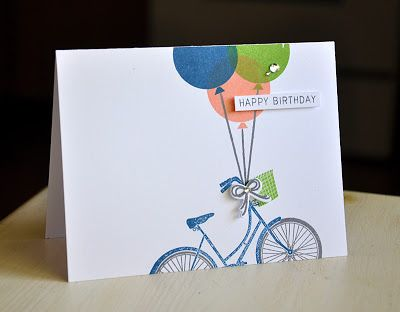 Birthday Bicycle Card by Maile Belles for Papertrey Ink (May 2013)