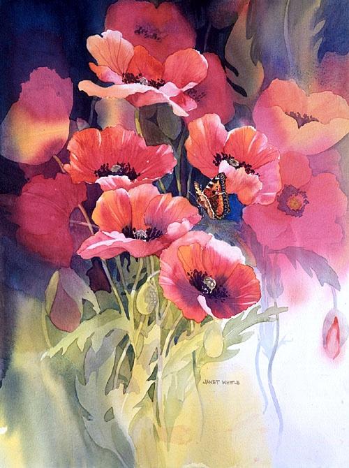 janet whittle wonderful British floral watercolourist