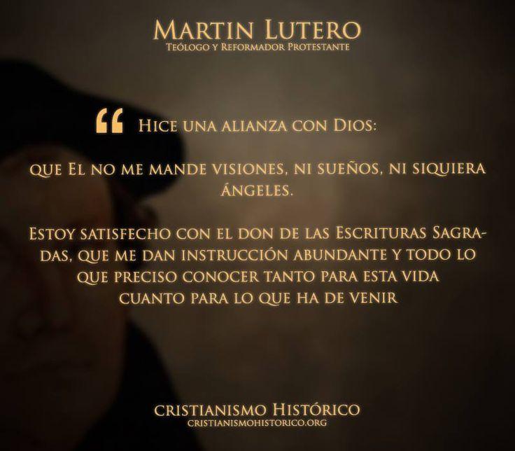La biblia de Dios es suficiciente Martin lutero...
