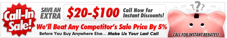Call us now to get the best deals possible!