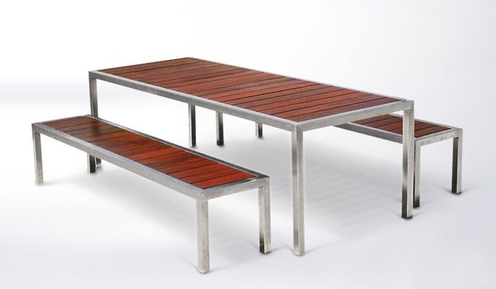 Amazing of Metal And Wood Outdoor Furniture Contemporary Table Metal Marble Teak Inout 133 Gervasoni | DRK Architects