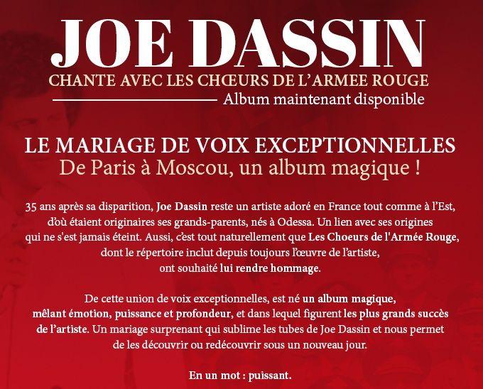 Concours : 5 albums de Joe Dassin, avec les Chœurs de l'Armée Rouge, à gagner