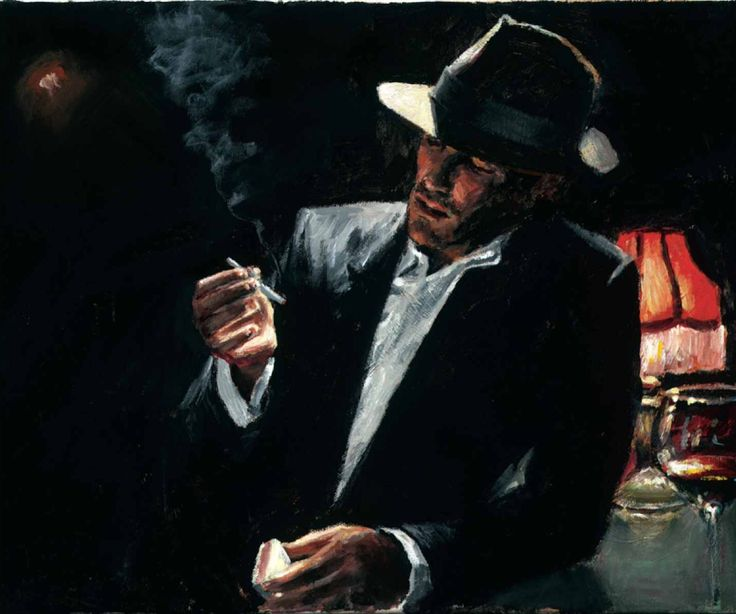 Fabian Perez - Enjoying the pleasures of the night Signed and Numbered Limited Edition
