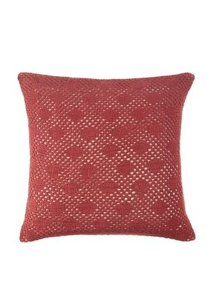 58% OFF Coyuchi Diamond Crochet Pillow (Mulberry)