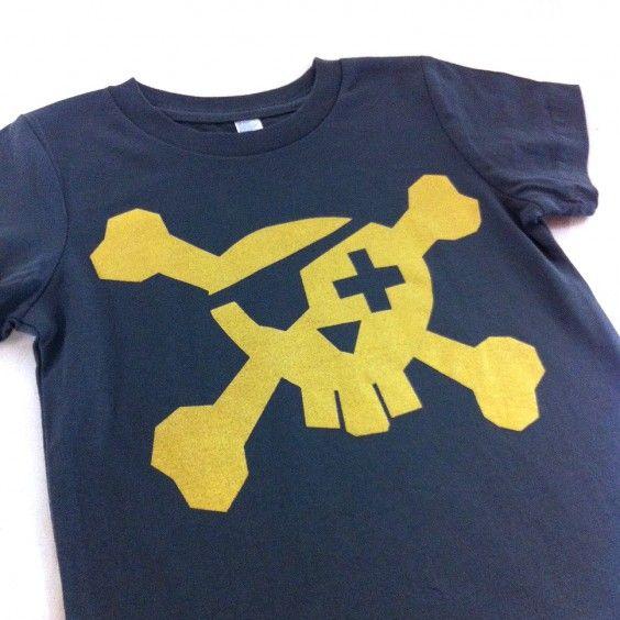 Freddy Alphabet Pirate Tee - Gold on Grey - Freddy Alphabet - Shop by Brand - Ragamuffins New Zealand