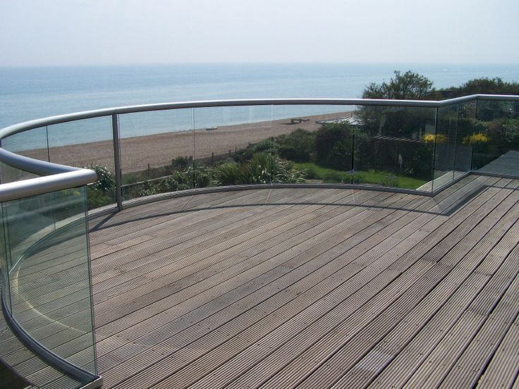 Best Bexhil Sea Shore From Large Curved Glass Balcony Glass 640 x 480