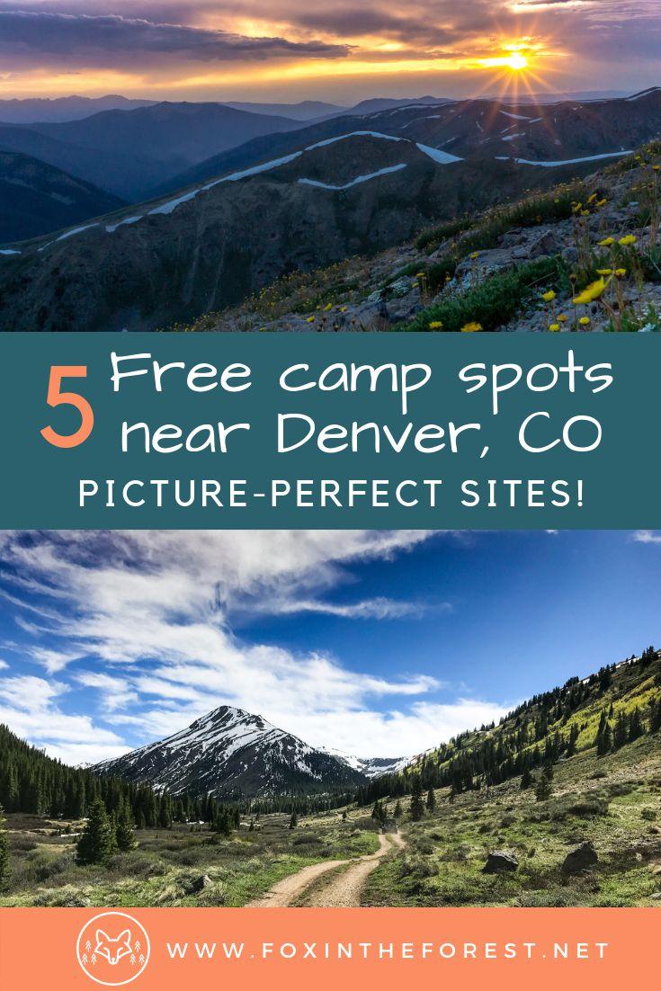 Guide to free camping near Denver, Colorado, USA. Free ...