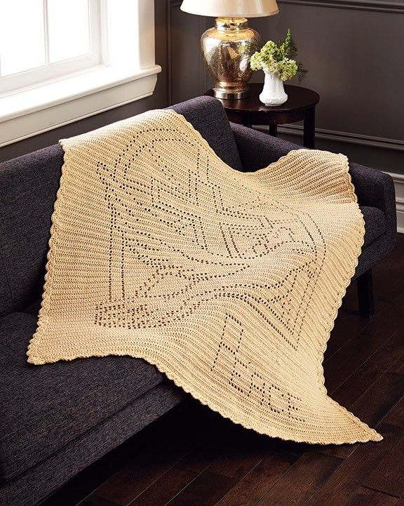 Marcel Afghan Knitting Pattern : Let There Be Peace Throw Filet crochet, Colors and Faith