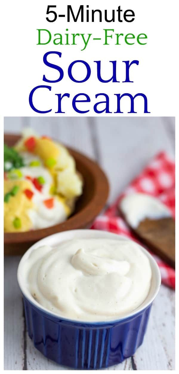 5 Minute Vegan Sour Cream Recipe In 2020 Vegan Sour Cream Sour Cream Recipes Sour Cream Alternative