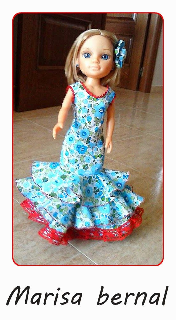 Cosiendo para Nancy, ademas de otras muñecas: Tutorial traje de flamenca para Pepa o Nancy