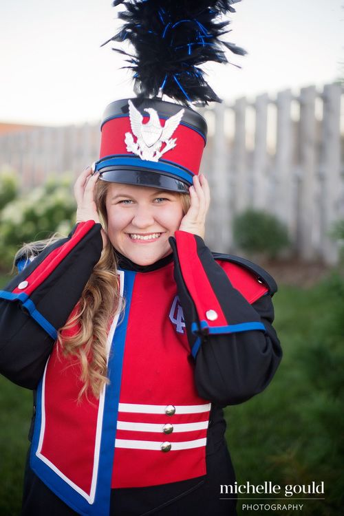 Marching band senior pictures — Michelle Gould Photography