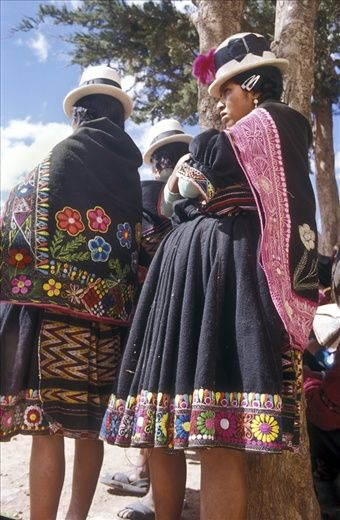 the people in Bolivia wear these cloths before the carnivals