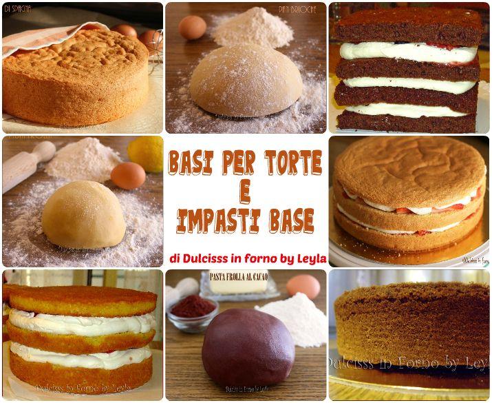 Basi per torte e impasti base, raccolta di ricette