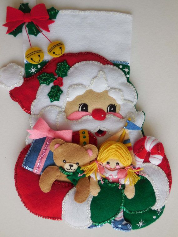 Finished Christmas Stocking - Armful  of Toys