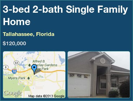 3-bed 2-bath Single Family Home in Tallahassee, Florida ►$120,000 #PropertyForSale #RealEstate #Florida http://florida-magic.com/properties/6460-single-family-home-for-sale-in-tallahassee-florida-with-3-bedroom-2-bathroom
