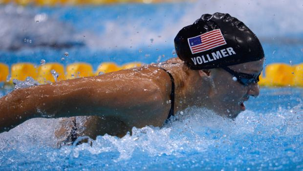 While the butterfly might be a tough stroke, Dana Vollmer made it look easy winning the gold medal and setting a World Record.