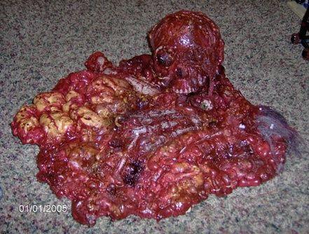 make my own gut pile for halloween butcher shoppe scene