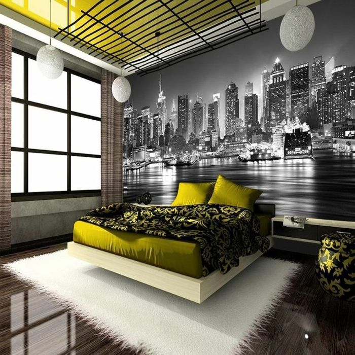 les 25 meilleures id es de la cat gorie chambre de new york sur pinterest d cor d 39 appartement. Black Bedroom Furniture Sets. Home Design Ideas
