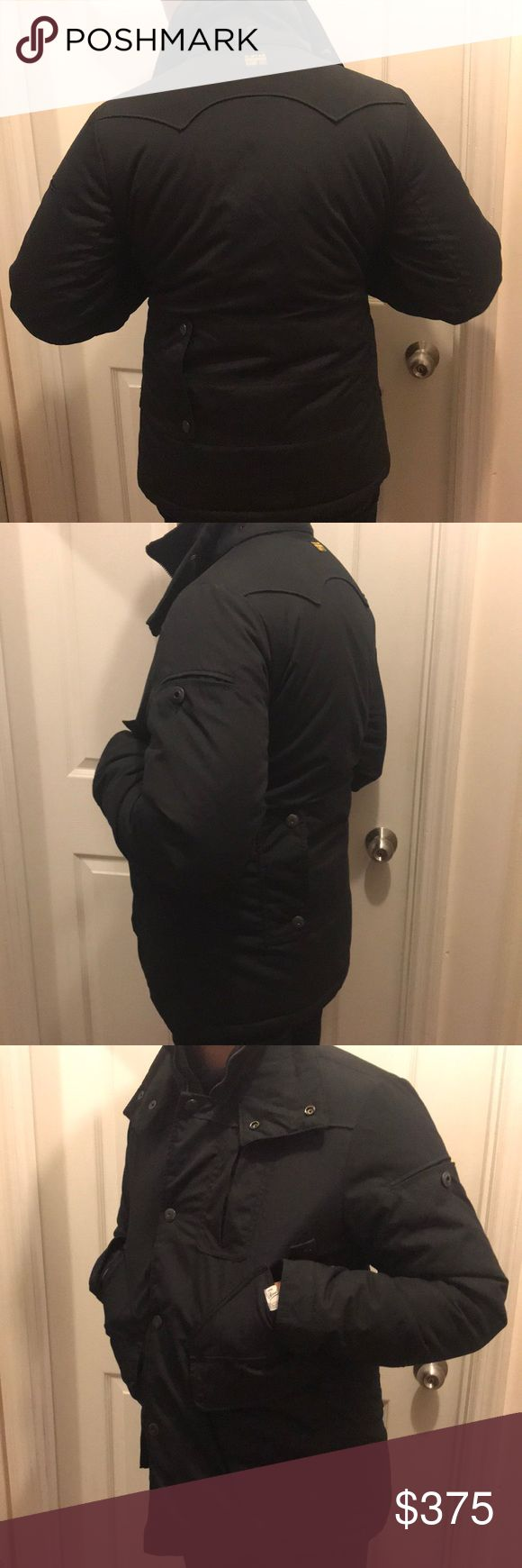 GSTAR BLACK PARKA MID LENGTH SIZE M GSTAR BLACK PARKA MID LENGTH SIZE M -65 POLYESTER -35 COTTON - Great for the winter season  -LIMITED EDITION G-Star Jackets & Coats Puffers