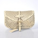 Cheap Fashion Louis Vuitton Cruise Collection 2012 Perforated Genuine Calfskin Leather Saumur Clutch Bag - Cream M94087 Replica