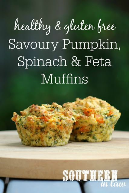 Healthy Savoury Pumpkin Spinach and Feta Muffins Recipe - gluten free, healthy savory muffins, clean eating recipe, sugar free, low fat, butter free, oil free, low calorie, freezer friendly, lunchbox recipes