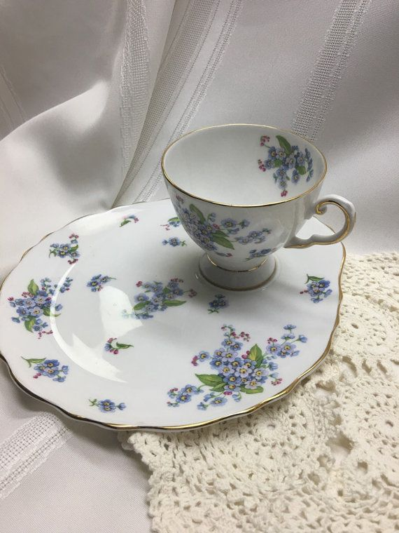 Royal Tuscan Fine English Bone China Luncheon/ Snack Plate with Teacup in a Lovely Forget & 110 best Tea Cups ROYAL TUSCAN images on Pinterest | Dish sets ...