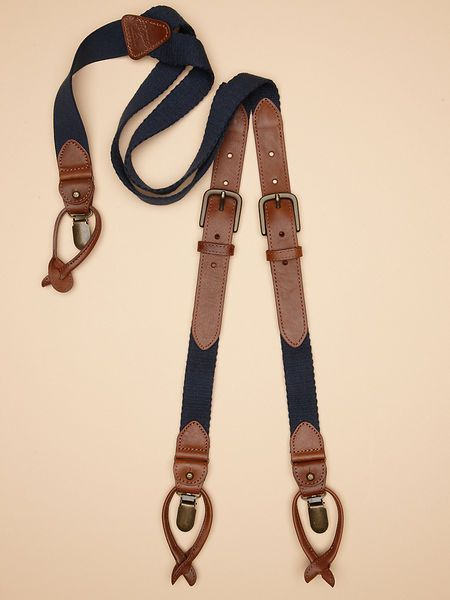 LEATHER SUSPENDERS // Original Penguin