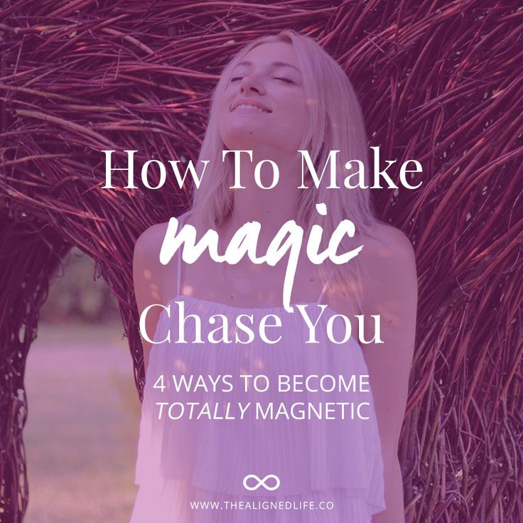 Do you want to have fun while creating what you want! Make magic chase you to help manifest the things you want in life with intention, fun and ease.