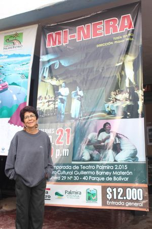 En obras de teatro como Santa Juana de los Mataderos, Ricardo III, Mi-Nera, entre otras, ha participado Amparo. Foto suministrada por: Yeisson Yondapiz- Grafo Animations.