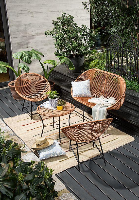 Set de terraza artesanal. #Artesanía #Chimbarongo #OrgullososDeLoNuestro