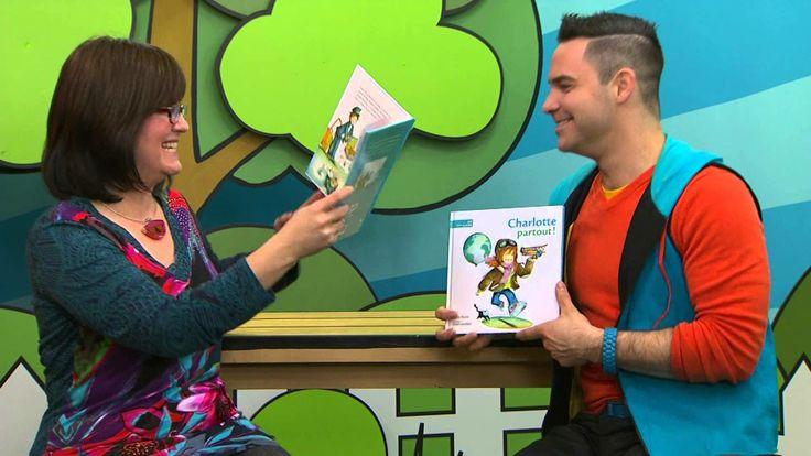 Mireille Messier rencontre Louis, l'animateur de l'émission jeunesse Mini TFO pour présenter son livre «Charlotte partout!», finaliste pour le Prix Peuplier 2014!