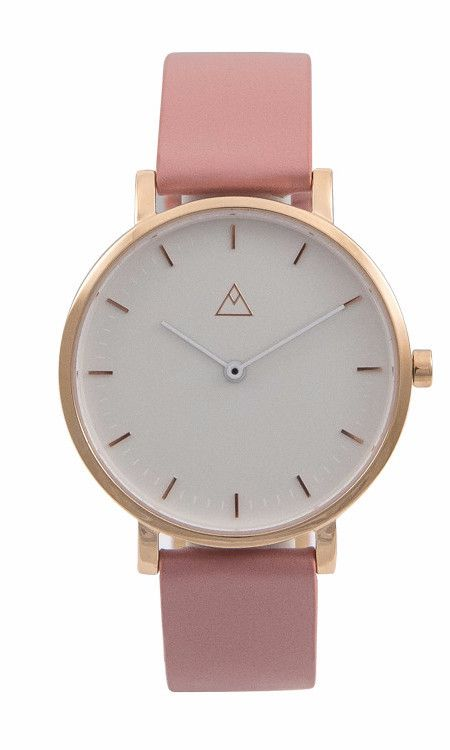 The Debut White / Rose Gold / Dusty Pink Leather by Medium.