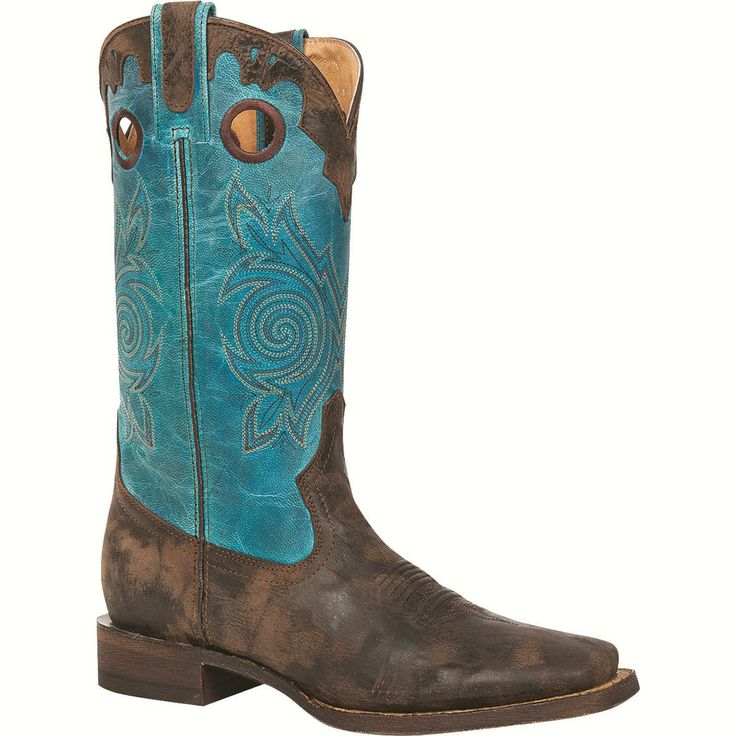 """ROCKY HandHewn: Women's Leather 12"""" Square Toe Western Boots - Style #5232"""