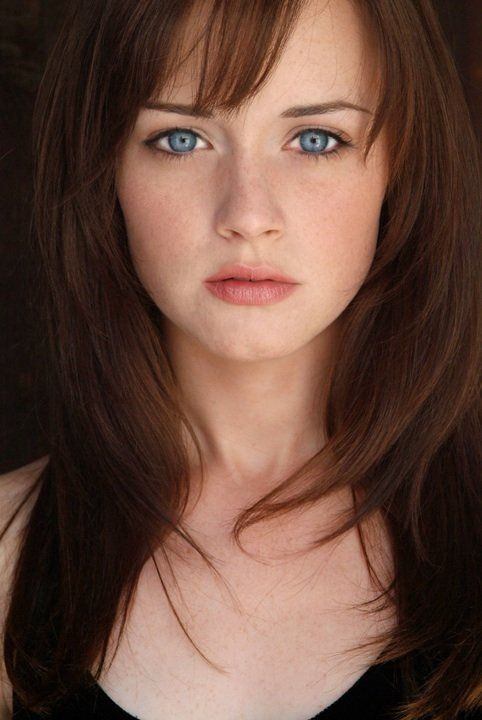 Alexis Bledel... love this haircut! keep my length, but add the simple bang and layers