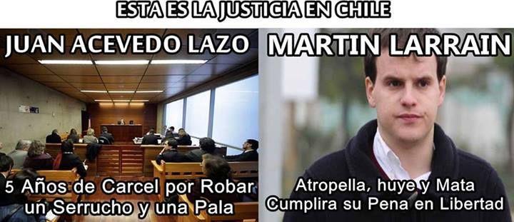 La justicia en Chile!