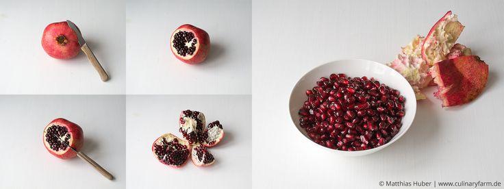 How to deseed a pomegranate | Granatapfel schälen, Kerne auslösen und Saft pressen
