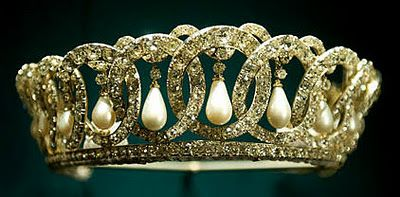The Grand Duchess Vladimir Tiara: Made in the 1880s by jewelers of Russian court, Grand Duchess Vladimir hid the tiara at Vladimir Palace in 1918 when she fled St. Petersburg in the wake of the revolution. It remained hidden until a friend & member of British Secret Intelligence smuggled it out of Russia.Before passing away in 1920, the tiara went to her daughter, Princess Nicholas of Greece. Nicholas sold it in 1921 to Queen Mary. It was inherited by Queen Elizabeth on Mary's death in ...