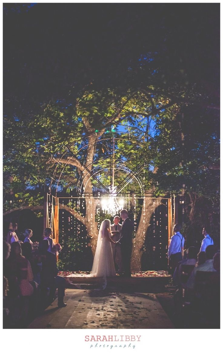 simple outdoor wedding ideas for summer%0A Enchanted Forest Night outdoor wedding at Southwind Hills  Oklahoma  Photo  Credit  Sarah Libby