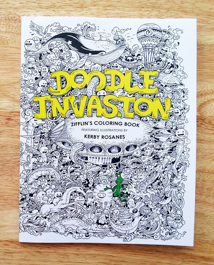 Doodle Invasion Is A New Coloring Book For Adults In Line With The Excellent Adult Activity And Between Lines