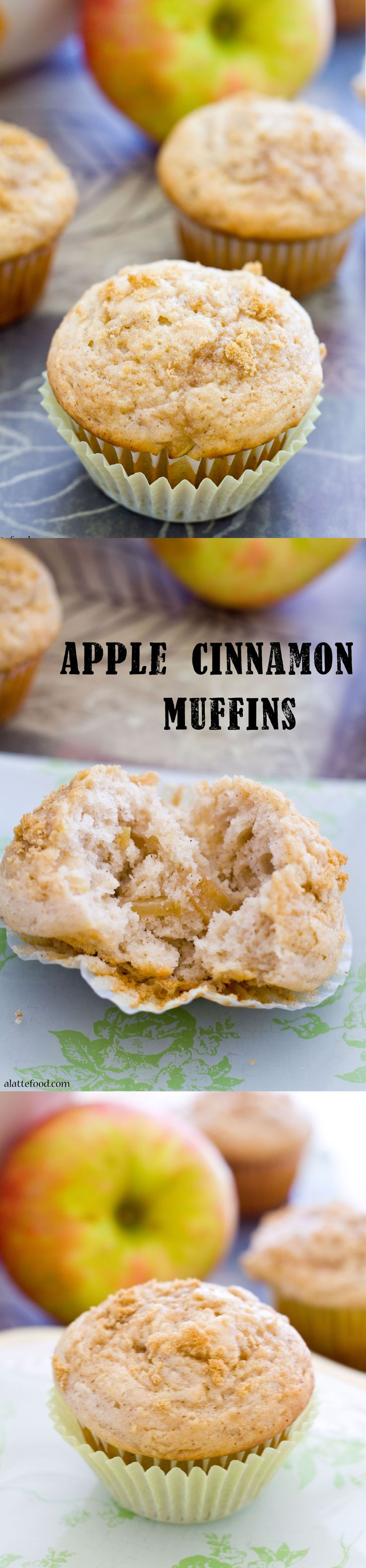 Apple Cinnamon Muffins: Cinnamon and apples make these fluffy muffins irresistible!