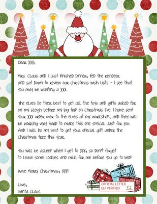 santa letters to and from