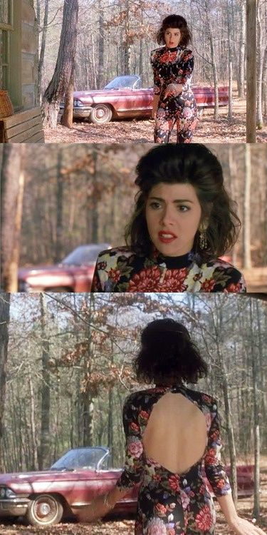 My Cousin Vinny - the back of this jumpsuit is stunning. Very cute, very 90s.