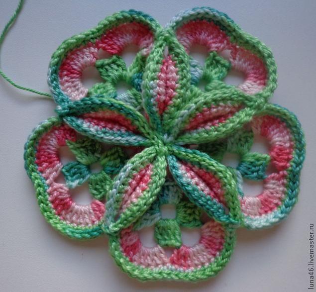 Crochet massa Flower - Mestres Feira - artesanal, Feito à Mão