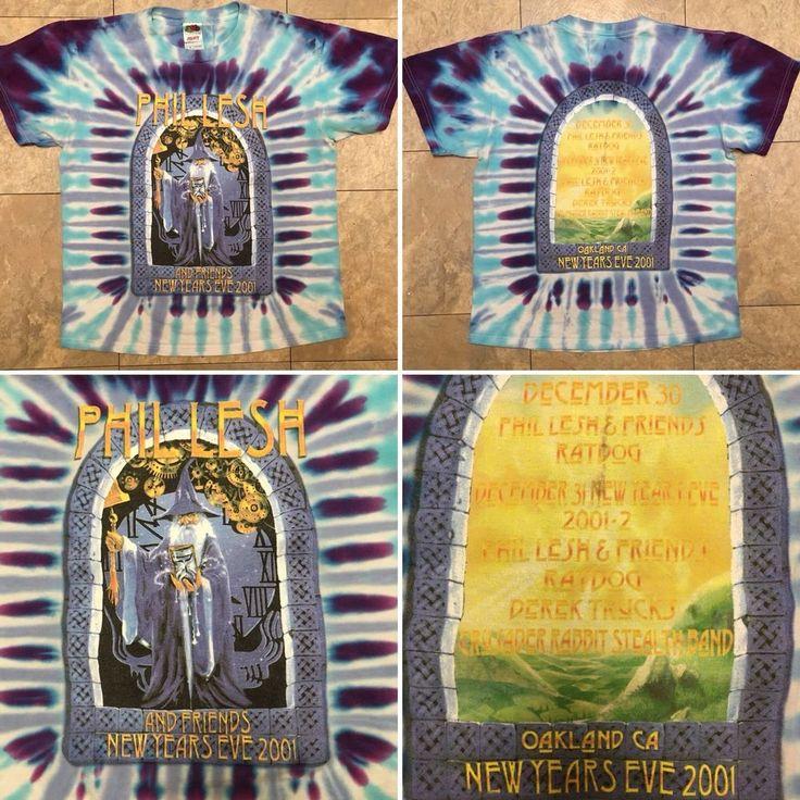 Phil Lesh And Friends 2001 Oakland New Years NYE Ratdog Grateful Dead T-Shirt M    eBay